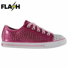 Skechers Kids Twinkle Toes Pixie Lace Up Colour Contrasting Shoes Girls