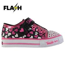 Skechers Kids Twinkle Toes Trainers Infant Girls Walking Touch and Close Shoes
