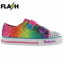 Skechers Kids Twinkle Toes Rainbow Colour Contrasting Shoes Infant Girls