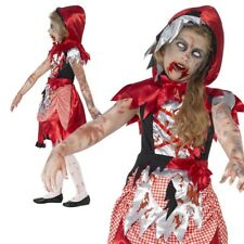 Zombie Little Red Riding Hood Girls Halloween Fancy Dress Costume
