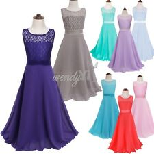 Girls Kids Princess Bridesmaid Flower Girl Dresses Wedding Formal Party Prom New