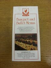 circa 1980's Liverpool: Banquet & Buffet Menus - A Small Booklet Detailing The S