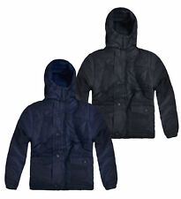 Boys Padded Winter Puffa Jacket New Kids Fleece Lined School Coat 4-14 Years