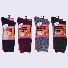 Polar Extreme Insulated Thermal Socks Women's Marl Brushed Warm Socks Size 9-11