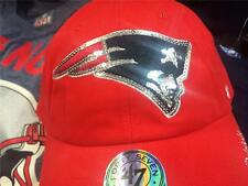 New England Patriots Womens 47 Brand BLING SPARKLE Clean Up Adjustable Cap $35!
