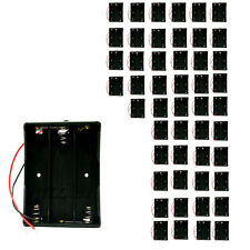"""50 x Holder Case box for 3 18650 17650 Li-ion Battery with 6"""" Wire Lead"""