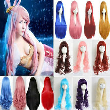 """Royal Mail 24""""32""""40"""" Extra Long Costume Anime Cosplay Wig Full Wigs 40+ Color YR"""