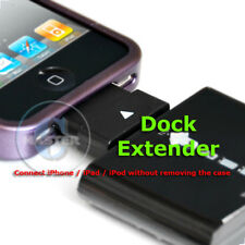 30pin DOCK CHARGE EXTENDER CASE BUMPER ADAPTER FOR IPOD IPHONE 4s 4 3Gs IPAD 2 3