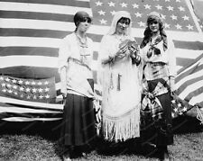 Fortune Telling Gypsies U.S. Flag 1910s Old Classic 8 by 10 Reprint Photograph
