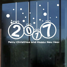 Merry Christmas 2017 Sports Vinyl Wall Sticker New Year Home Windows Decal Decor