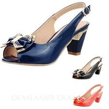 Shoes Vintage Prom Pumps Slingback Ladies Bow Sandals AU sz 4 5 6 7 8 9 10