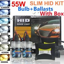 HID Xenon 55W Headlight Conversion KIT Bulbs+Ballasts Set H1 H3 H4 H7 9005 9006