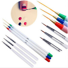 6PCs/Set Acrylic French Nail Art Pen Brush Painting Drawing Liner Manicure Tools