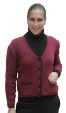 Womens Soft Warm Knitted Alpaca Wool Cardigan Bolero Sweater Coat Size M Peru