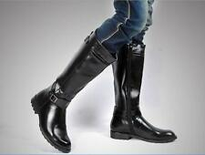 New Men's Pointed Toe Punk PU Leather Riding Knee High Boots Shoes Kight Boot #