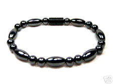 High Power Magnetic Hematite 6mm Bracelet Anklet Necklace Mens Womens Sized C34