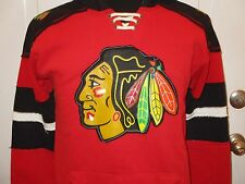 Brand New Chicago Blackhawks Red & Black Long Sleeve Youth Hooded Sweatshirt
