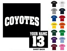 Coyotes College Letters Hockey Custom T-shirt #230 - Free Shipping