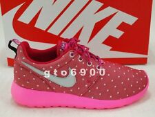 Nike Rosherun Print GS Roshe Run Red Pink Silver Running Shoes 677784-606