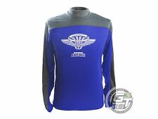 Innova AIR FORCE 2.0 Long Sleeve Rapid-Dry Disc Golf Jersey - BLUE / SILVER
