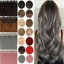 100% Real Thick Clip In Hair Extensions Long Curly 3/4 Head Hair Extention FSW