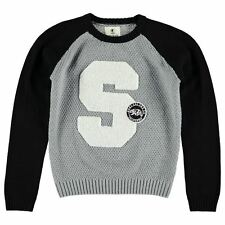 SoulCal Kids Knit Jumper Junior Boys Knitted Pullover Long Sleeve Crew Neck Top