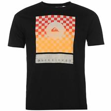Quiksilver Mens Checkers T Shirt Print Casual Short Sleeve Crew Neck Tee