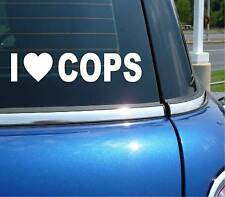 I HEART LOVE COPS POLICE TICKET RACE RACING GRAPHIC DECAL STICKER ART CAR WALL
