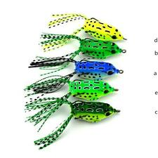 NEW Cute Frog Topwater Fishing Lure Crankbait Hooks Bass Bait Tackle 5 COLOR 2o