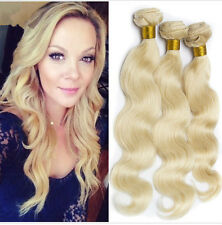 4 Bundles #613 Blonde Brazilian Human Hair Extensions Weave Body Wave 200g all