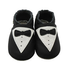 Sayoyo Baby Soft Genuine Leather Toddler Infant Shoes Gentleman Tie Moccasins