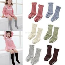 1pair Baby Kids Toddler Girls Cotton Knee High Socks Tights Leg Warmer Stockings