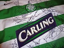 HAND SIGNED CELTIC SHIRT 2005/06 LEAGUE CUP AND SCOTTISH PREMIERSHIP WIN SQUAD