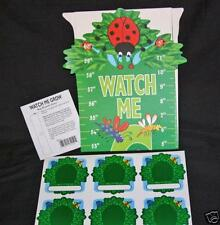 24 Height Growth Chart Kids Child Lady Bug Watch Me Grow +Photo Stickers NEW