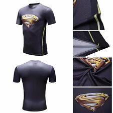 Marvel Superman 3D Compression T-Shirts Bodybuilding Top Comic Cycling Jersey