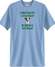Dog T-Shirt I ask God for a true friend Jack Russell Men Adopt Rescue Animal # 2