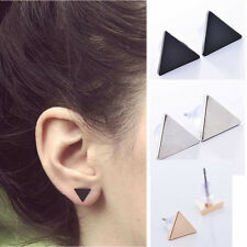 Women Punk Style Simple Triangle Earring Street Style Ear Stud Earrings 3 COLOR