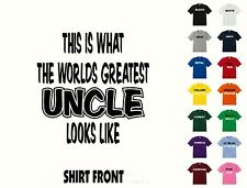 Worlds Greatest Uncle - Birthday, Christmas Gift T-Shirt #340 - Free Shipping