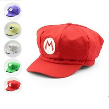 Super Mario Plush Toys Cotton Caps Luigi Wario Waluigi Cosplay Hat Holloween Gif