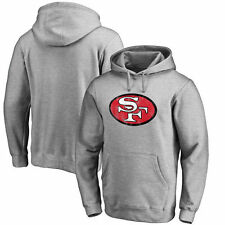 San Francisco 49ers Pro Line Throwback Logo Pullover Hoodie - Gray - NFL