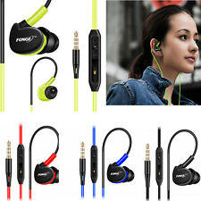 Waterproof Earphones In Ear Earbuds HIFI Sport Headphones Bass Headset + Mic  HS
