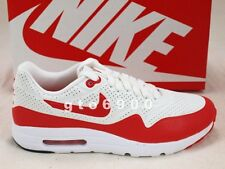 Nike Air Max 1 Ultra Moire White Challenge Red Running Shoes 705297-106