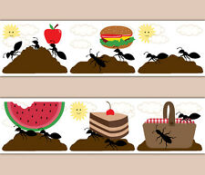 Kitchen Wall Decor Ant Hill Farm Picnic Basket Kids Wallpaper Border Art Decals