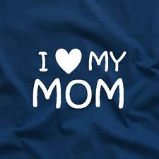 I Heart My Mom Love Mom Favorite Sibling Funny Tee T-Shirt Blue