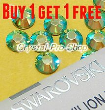 *Buy 1 Get 1 FREE* GENUINE Swarovski AB Jet Black 5mm Hotfix Iron On Rhinestones