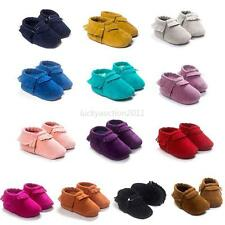 New Baby Soft Sole Suede Leather Shoes Infant Boy Girl Toddler Moccasin Shoes