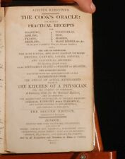 1818 Apicius Redivivus Cook's Oracle KITCHINER Cookery