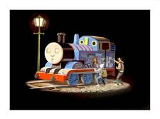 BANKSY Thomas the Tank Engine getting Tagged A4 CANVAS PRINT 8