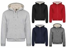 New Mens Boys Traditional Hoodie with White Faux Fur Lined Hood