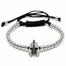 Hot Knight Helmet Charming Mens 18K Macrame Bracelet Bangle Ball Beads Jewelry